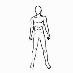 身体の絵の描き方-立ち姿の描き方-完成