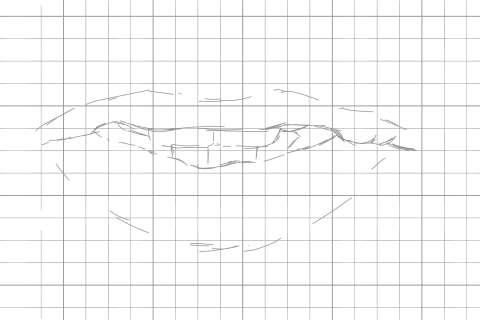 リアルな唇の絵の描き方1
