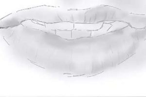 リアルな唇の絵の描き方3-4