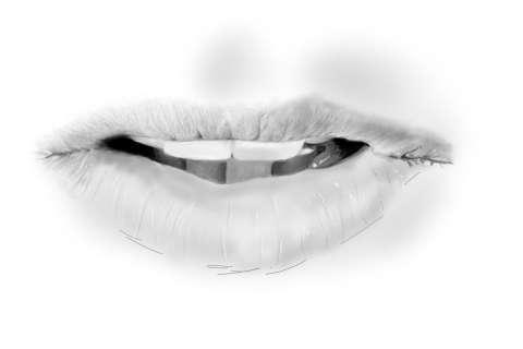 リアルな唇の絵の描き方9