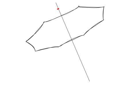 初心者でも簡単な傘の絵の描き方13