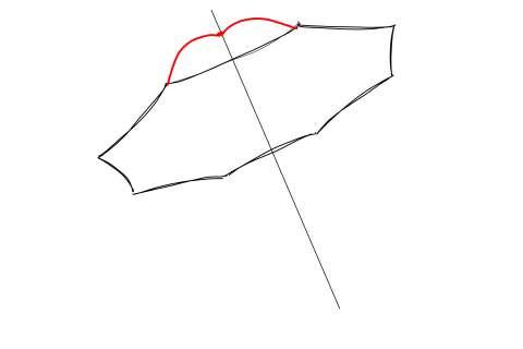 初心者でも簡単な傘の絵の描き方14