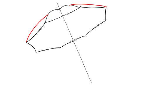 初心者でも簡単な傘の絵の描き方15