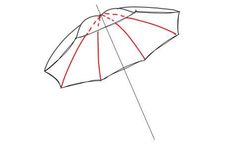初心者でも簡単な傘の絵の描き方16