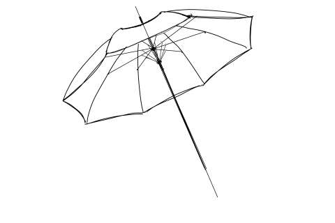 初心者でも簡単な傘の絵の描き方20