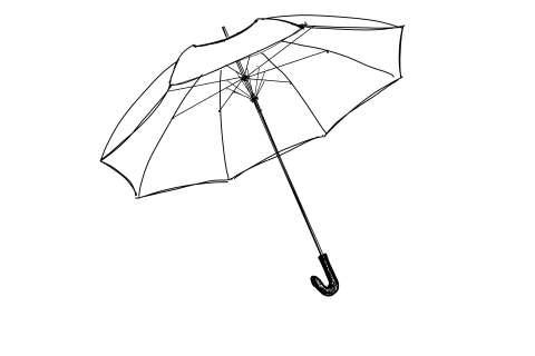 初心者でも簡単な傘の絵の描き方21