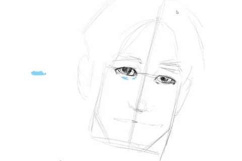 初心者でも簡単な絵の描き方-自画像の書き方11