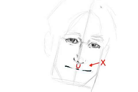 初心者でも簡単な絵の描き方-自画像の書き方14-2