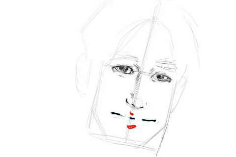 初心者でも簡単な絵の描き方-自画像の書き方15-2