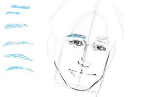 初心者でも簡単な絵の描き方-自画像の書き方16