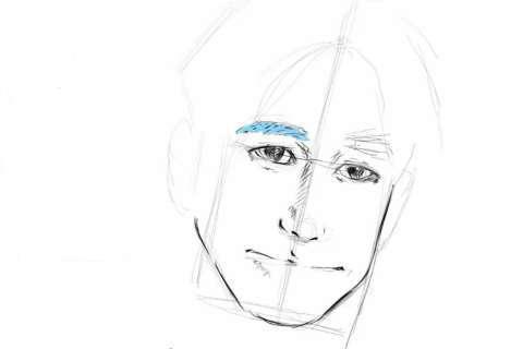 初心者でも簡単な絵の描き方-自画像の書き方17-2