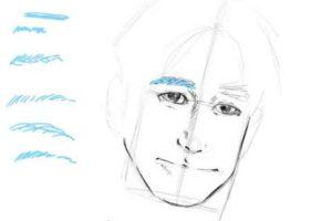 初心者でも簡単な絵の描き方-自画像の書き方17