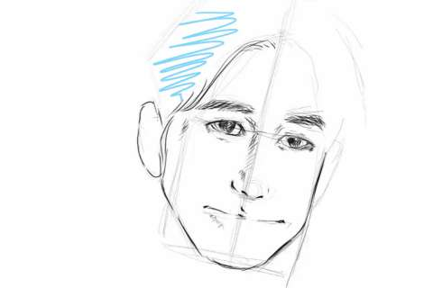 初心者でも簡単な絵の描き方-自画像の書き方18
