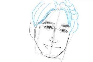 初心者でも簡単な絵の描き方-自画像の書き方19