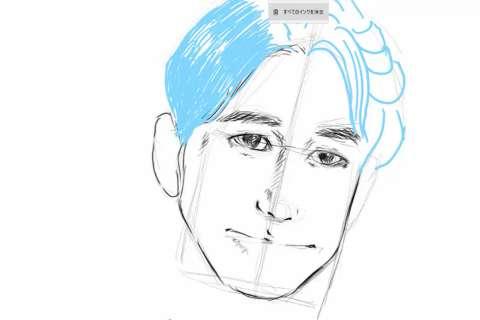 初心者でも簡単な絵の描き方-自画像の書き方20