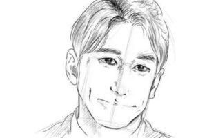初心者でも簡単な絵の描き方-自画像の書き方24
