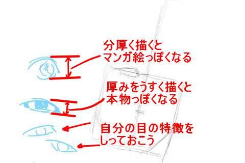 初心者でも簡単な絵の描き方-自画像の書き方5
