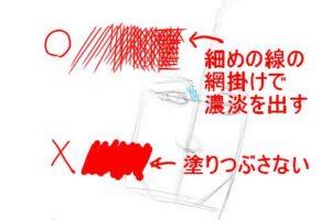 初心者でも簡単な絵の描き方-自画像の書き方7-2
