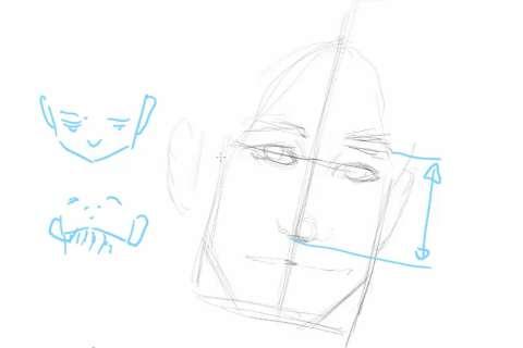 初心者でも簡単な絵の描き方-自画像の書き方9