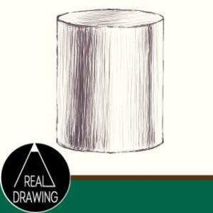 リアルな絵の描き方-円筒のスケッチの書き方サムネイル-セピア