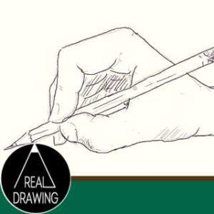 初心者でも簡単な絵の描き方-鉛筆を持った手の描き方サムネイル-セピア