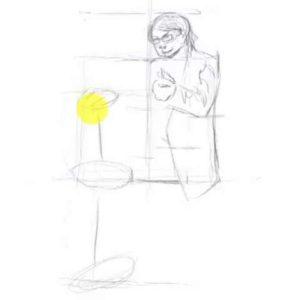 座っている男性の描き方11