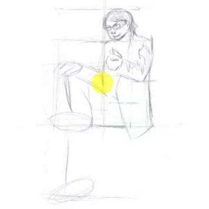 座っている男性の描き方12