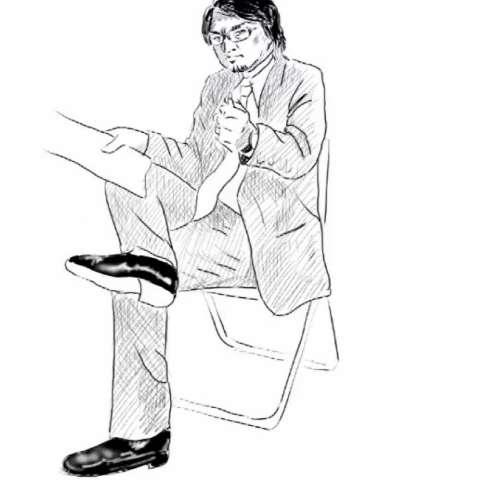 座っている男性の描き方15