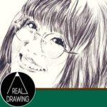 リアルな絵の描き方-メガネから描き始める女性の顔の描き方サムネイル