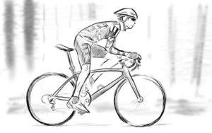 自転車の絵の描き方_完成作品
