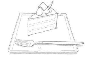 なぞり絵-ケーキ