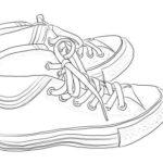 なぞり絵ーひも靴の描き方
